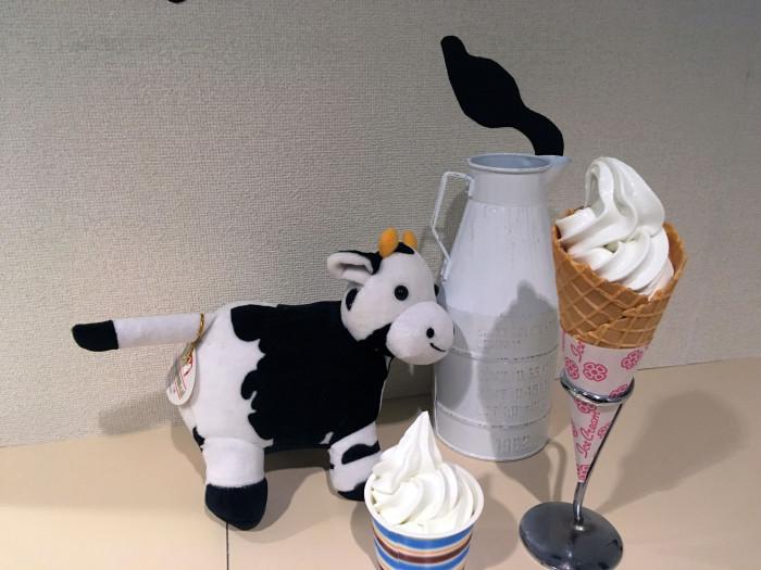 万世閣オリジナルソフトクリーム
